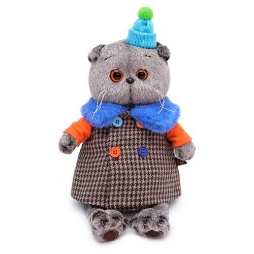 Купить Мягкая игрушка Basik&Co Кот Басик в комбинированном пальто 25 см, Мягкие игрушки