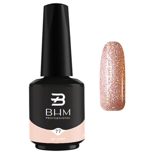 Купить Гель-лак для ногтей BHM Professional Gel Polish, 7 мл, оттенок №077 Gold spangle