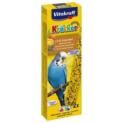 Лакомство для птиц Vitakraft Крекеры для волнистых попугаев яичные