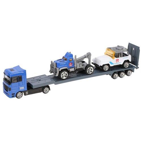 Купить Набор машин Пламенный мотор Полиция (870392) синий/серый/белый, Машинки и техника