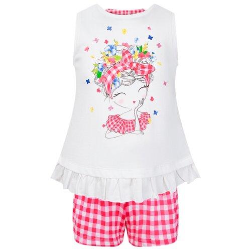 Купить Комплект одежды Mayoral размер 134, белый/розовый, Комплекты и форма