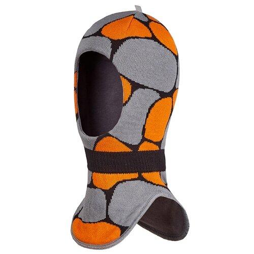 Шапка-шлем Oldos размер 52-54, апельсиновый/серый