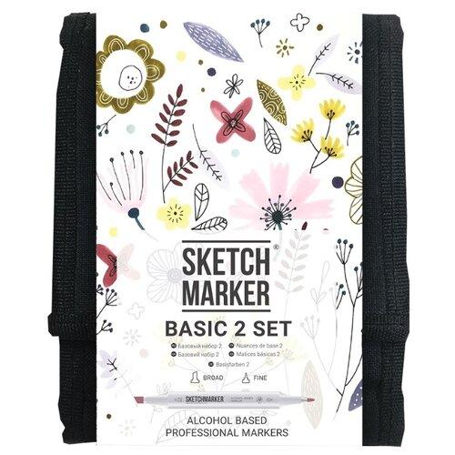 Купить SketchMarker Набор маркеров Basic Set 2, 12 шт., Фломастеры и маркеры