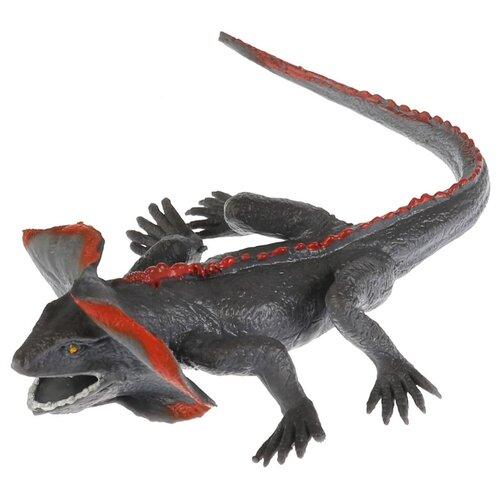 Купить Игрушка-мялка Играем вместе Плащеносная ящерица W6328-71BT-R серый, Игрушки-антистресс