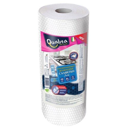 Салфетка влаговпитывающая Qualita Forte в рулоне 70 шт салфетка для уборки qualita 18 20 см 5 шт
