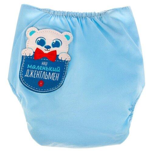 Фото - Крошка Я многоразовый подгузник (3-15 кг) 1 шт. голубой, наш маленький джентльмен глориес многоразовый подгузник классик сафари 3 18кг 2 вкладыша