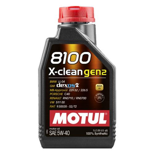 Моторное масло Motul 8100 X-clean GEN2 5W40 1 л