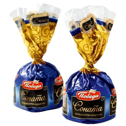 Конфеты Победа вкуса Соната с лесным орехом и ореховым кремом, коробка 2000 г фото