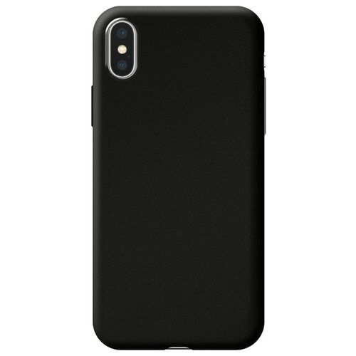 Чехол-накладка Deppa Silk Case для Apple iPhone X/Xs черный металлик чехол накладка deppa gel plus case матовый для apple iphone x xs розовое золото