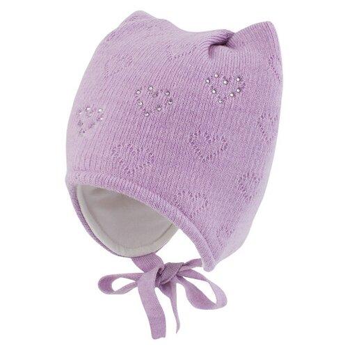 Шапка Prikinder размер 46-48, сиреневый шапка playtoday размер 46 сиреневый