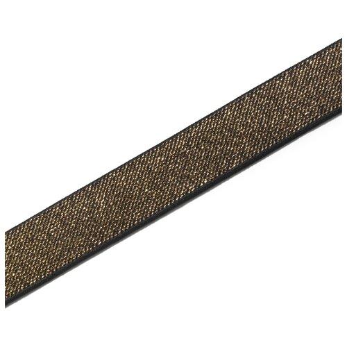 Купить Лента Prym Эластичная лента Color 25мм черный/золотистый, Декоративные элементы