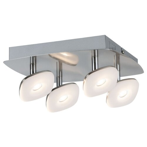 Настенный светильник Spotlight Squarelense 4x5W Ni 230V Mt/Ac 66653 светильник spotlight teja max1x10w gu10 ni sat mt