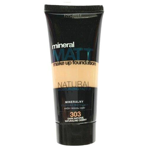 Ingrid Cosmetics Тональный крем Mineral Matt, 30 мл, оттенок: 303 Dark Natural тональный крем ingrid mineral matt тон 304 песочный