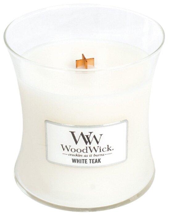 Свеча WoodWick White Teak (92039), средняя