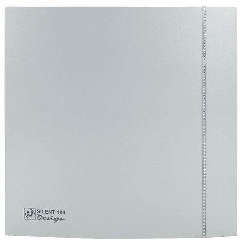 Вытяжной вентилятор Soler & Palau SILENT-100 CZ SWAROVSKI DESIGN, silver 8 Вт