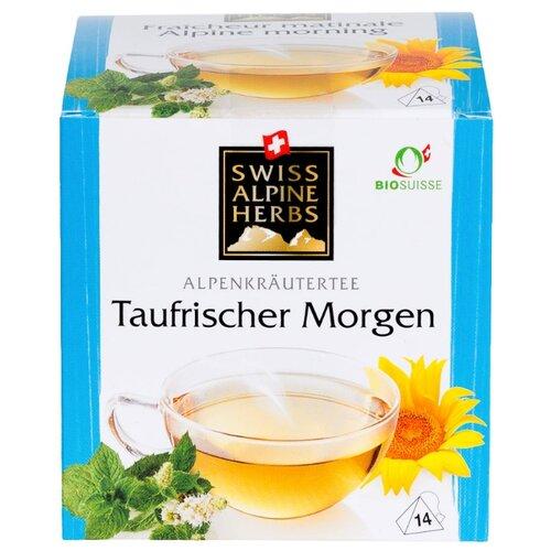 Чай травяной Swiss Alpine herbs Alpine morning в пирамидках , 14 шт. чай в пирамидках swiss alpine herbs ромашка 14 г