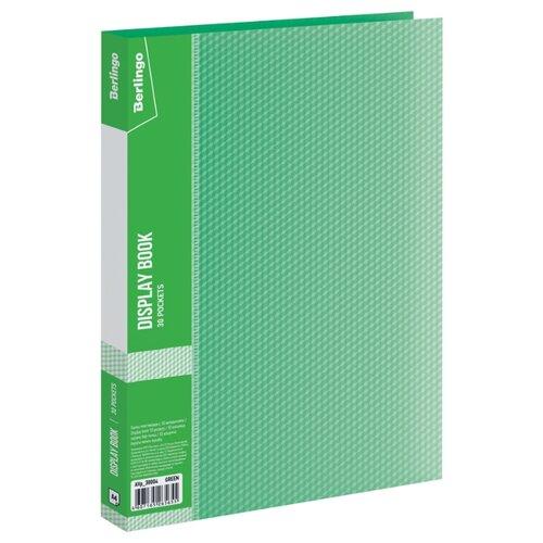 Купить Berlingo Папка с 30 вкладышами Diamond A4, пластик 700 мкм зеленый, Файлы и папки