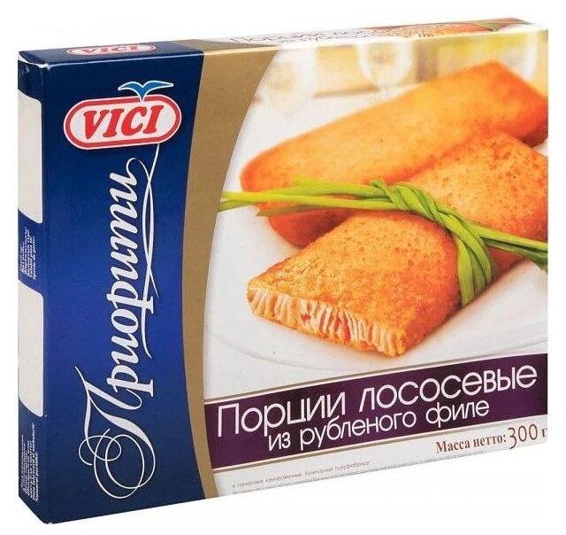 Vici Порции из филе рубленого лососевых рыб панированные коробка 300 г