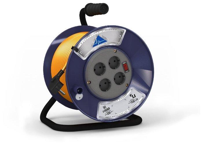 Удлинитель электро силовой кат К1-о-50 пвс 2*0,75 50м 10а вынос розет