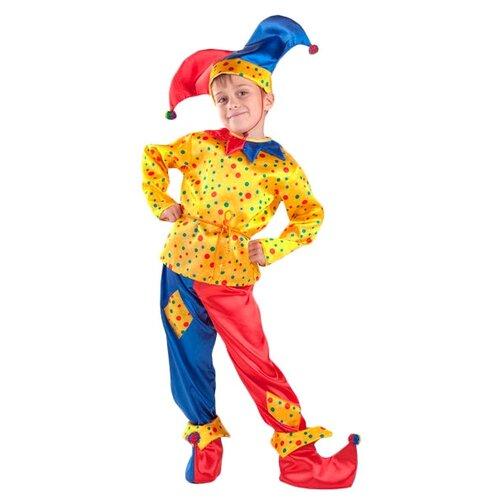 Купить Костюм Батик Петрушка (7005), красный/синий/желтый, размер 140, Карнавальные костюмы