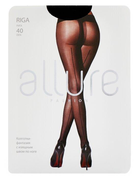 Купить Колготки ALLURE Fashion Riga 40 den, размер 4, nero (черный) по низкой цене с доставкой из Яндекс.Маркета (бывший Беру)