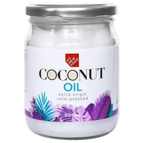 MYNEWFOOD Масло органическое кокосовое Coconut Oil Extra virgin холодного отжима 0.5 л parachute coconut oil кокосовое масло 500 мл