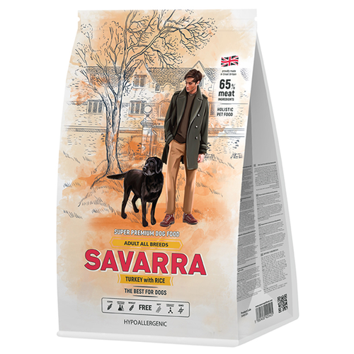 Фото - Сухой корм для собак SAVARRA индейка, с рисом 1 кг сухой корм для щенков savarra индейка с рисом 3 кг