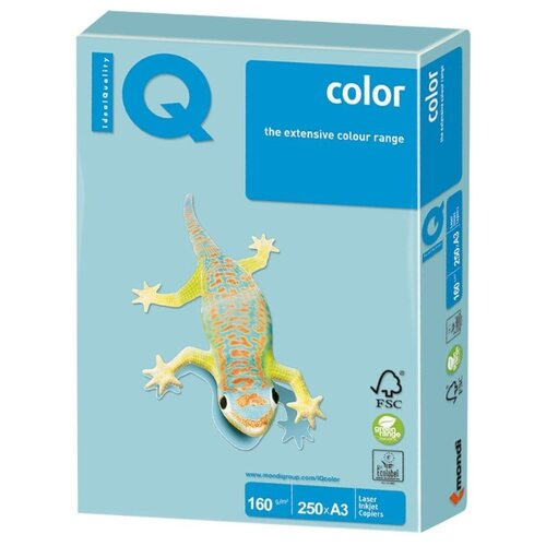 Фото - Бумага IQ Color А3 160 г/м2 250 лист. 1шт. бумага iq color а4 color 120 г м2 250 лист оранжевый or43 1 шт