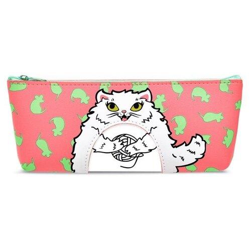 Купить Феникс+ Пенал Розовый кот (49044) розовый, Пеналы