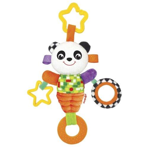 Подвесная игрушка Азбукварик Панда Люленьки желтый/оранжевый фото