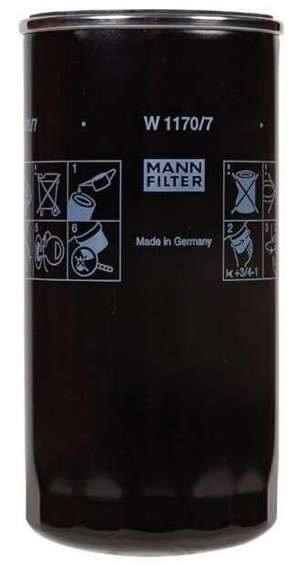 Масляный фильтр MANNFILTER W1170/7