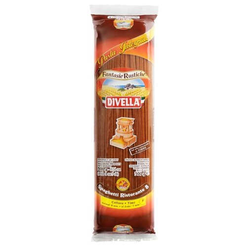 Divella Макароны Brown Pasta Spaghetti Ristorante Integrali 8 цельнозерновые, 500 г