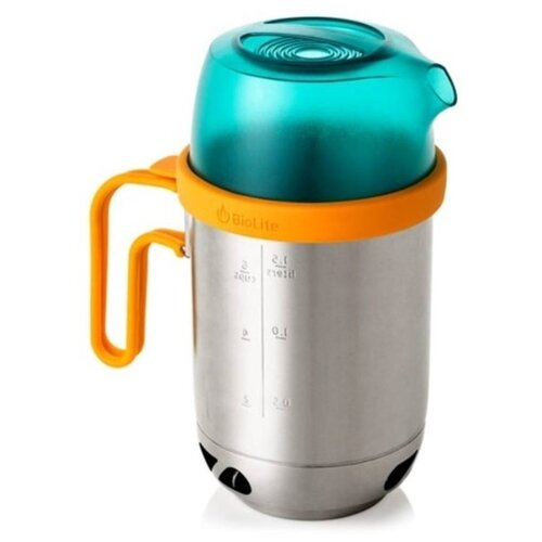Чайник BioLite KettlePot, 1.5 л стальной/голубой/желтый