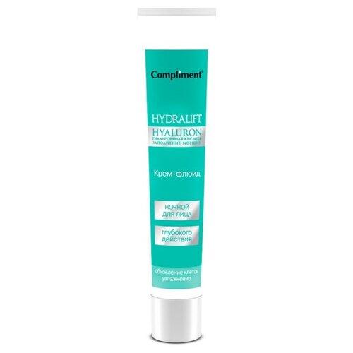 Купить Compliment Hydralift Hyaluron Ночной крем-флюид глубокого действия для лица, 50 мл