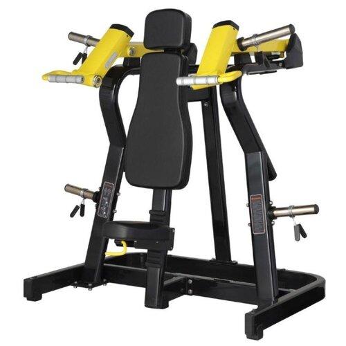 Тренажер со свободными весами Bronze Gym XA-03 черный/желтый верхняя тяга bronze gym xa 07