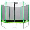 Каркасный батут Alpin 10 ft (312 см) с защитной сеткой и лестницей 312х312х245 см