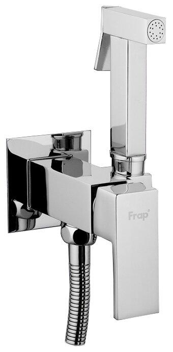 Смеситель для биде Frap F7506 однорычажный встраиваемый лейка в комплекте хром