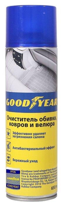 GOODYEAR Очиститель обивки, ковров и велюра для салона автомобиля GY000711, 0.65 л