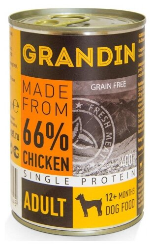 Корм для собак Grandin курица