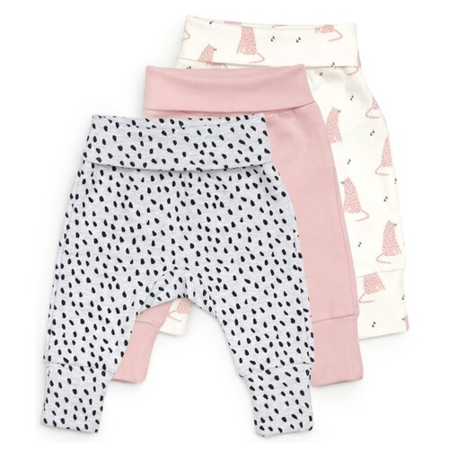 Брюки Happy Baby 90053 размер 56, розовый/серый/белый брюки happy baby baby crawlers set 90034 размер 56 зеленый белый