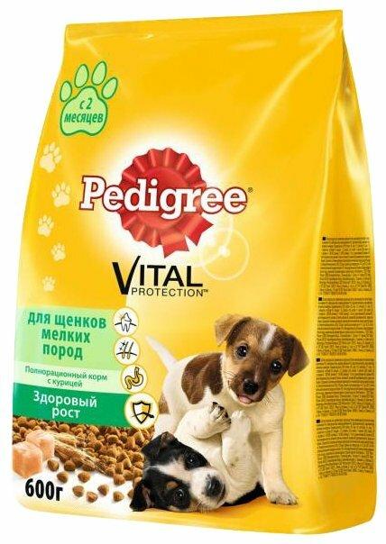 Корм для щенков Pedigree курица 600г (для мелких пород)