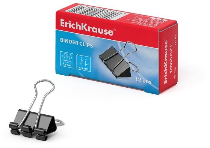 ErichKrause Зажим для бумаг 15мм (25085) (12 шт.)