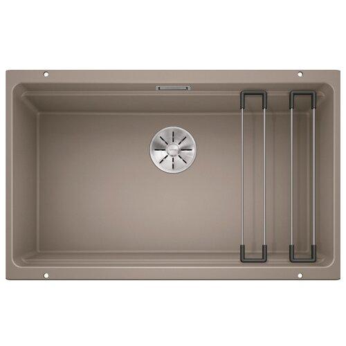 Врезная кухонная мойка 73 см Blanco Etagon 700-U серый беж фото