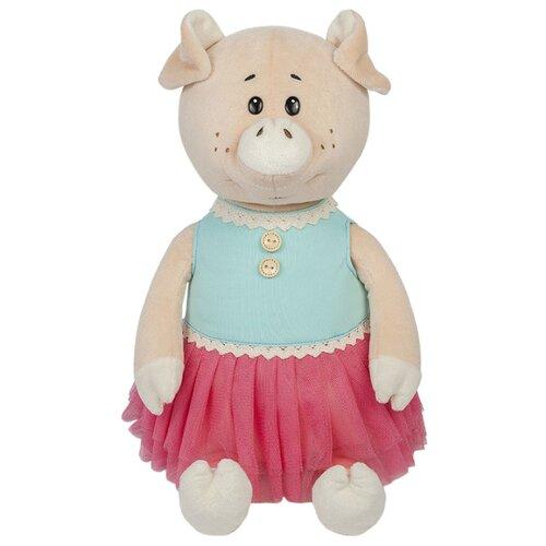 Купить Мягкая игрушка Maxitoys Свинка Даша в ярком платье 21 см, Мягкие игрушки
