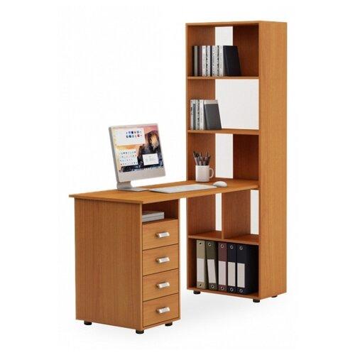 цена на Компьютерный стол Владимирская мебельная фабрика Оксфорд-1, 140х60 см, цвет: вишня оксфорд