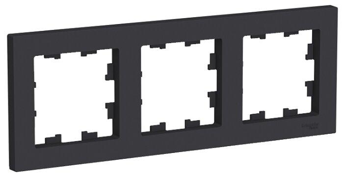 Рамка Schneider Electric ATN001003 AtlasDesign, 3-постовая, универсальная, карбон