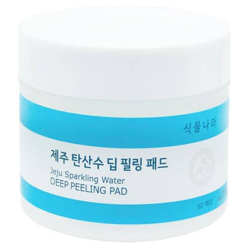 Shingmulnara пилинг-диски для лица Jeju Sparkling Water 120 мл 60 шт.