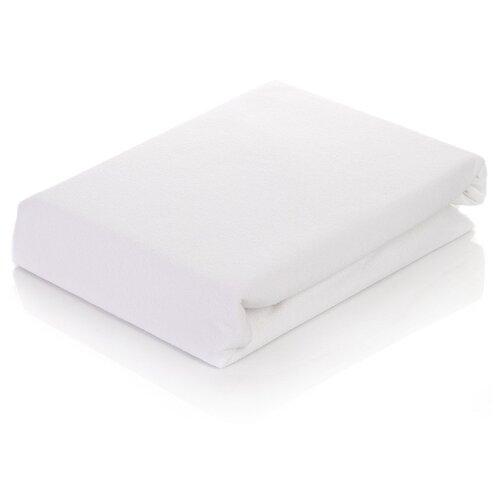 цена Простыня АльВиТек сатин на резинке 180 х 200 см белый онлайн в 2017 году