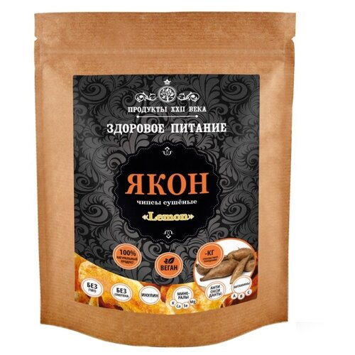 Продукты ХХII века Якон чипсы сушеные Lemon 200 г продукты 24