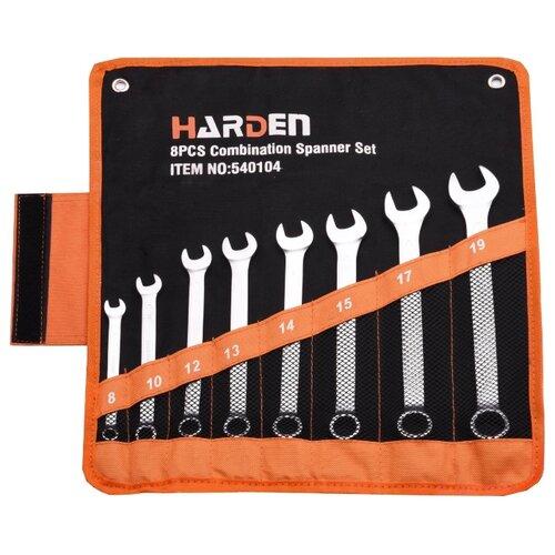 Набор гаечных ключей Harden (8 предм.) 540104 серебристый набор гаечных ключей kroft 8 предм 210108 серебристый